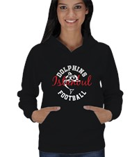 Football Team Hoodie Kadın Kapşonlu Time for team pride 