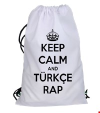 Keep Calm And Türkçe Rap Büzgülü spor çanta Keep Calm