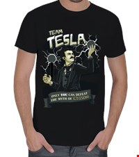 Tesla 2 Erkek Tişört Team Tesla - only you can defeat the myth of Edison 150406142716213141182362019-