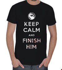 Finish Him Erkek Tişört Keep Calm and Finish Him 150424171504213141182364013-