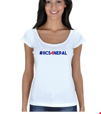 IICS4Nepal- Womens 2 sided Kadın Açık Yaka Support our fundraising for Nepal Help earthquake victims in their time of need 1505071204331951752092384636-