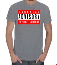 Parental Advisory  Erkek Tişört Parental Advisory Explicit Content 15072419035095701392524829-