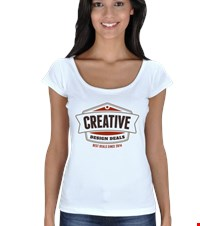 Creative - Design Deals Kadın Açık Yaka Creative - Design Deals 15072511480678167881503377-
