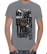 MY GUN IS MUCH BIGGER Erkek Tişört My Gun is Much Bigger Than Yours 15090815220531223441672017-