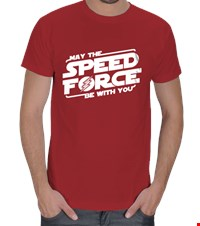 Speed Force Erkek Tişört May The Speed Force Be With You