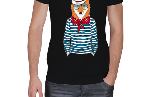 Hipster Animal Fashion V Yaka Spor Kesim