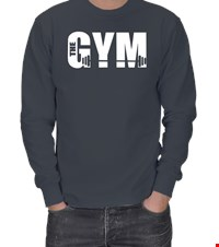 THE GYM ERKEK SWEATSHIRT bodybuıldıng,fitness,gym,suplement,vucutgelistirme,body,fit, 1709300029153754121873296-