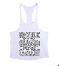 MORE PAIN MORE GAIN Erkek Tank Top Atlet bodybuilding,fitness,gym,vucut gelistirme,supplement,trainer,body,bilek guresi,armwrestlink,spor,antrenman,protein, 17122116143337551452017312-