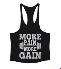 MORE PAIN MORE GAIN Erkek Tank Top Atlet bodybuilding,fitness,gym,vucut gelistirme,supplement,trainer,body,bilek guresi,armwrestlink,spor,antrenman,protein, 17122116241637551452011482-