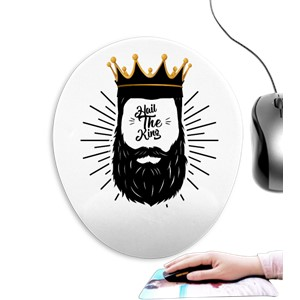Hail to the king Oval Mouse Pad (Bilek Destekli)