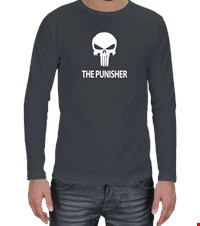 PUNISHER Erkek Uzun Kol bodybuilding,fitness,gym,vucut gelistirme,supplement,trainer,body,bilek guresi,armwrestlink,spor,antrenman,protein, 18012614511737551452017149-