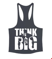 THINK BIG Erkek Tank Top Atlet bodybuilding,fitness,gym,vucut gelistirme,supplement,trainer,body,bilek guresi,armwrestlink,spor,antrenman,protein, 18012700390137551452018224-