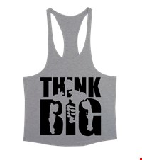 THINK BIG Erkek Tank Top Atlet bodybuilding,fitness,gym,vucut gelistirme,supplement,trainer,body,bilek guresi,armwrestlink,spor,antrenman,protein, 18012700412037551452017995-