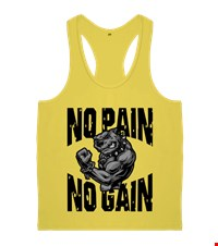 NO PAIN NO GAIN Erkek Body Gym Atlet bodybuilding,fitness,gym,vucut gelistirme,supplement,trainer,body,bilek guresi,armwrestlink,spor,antrenman,protein, 18021017035637551452014686-