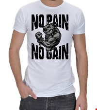 NO PAIN NO GAIN Erkek Spor Kesim bodybuilding,fitness,gym,vucut gelistirme,supplement,trainer,body,bilek guresi,armwrestlink,spor,antrenman,protein, 18021017220137551452011973-