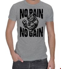 NO PAIN NO GAIN Erkek Spor Kesim bodybuilding,fitness,gym,vucut gelistirme,supplement,trainer,body,bilek guresi,armwrestlink,spor,antrenman,protein, 18021017241437551452017828-