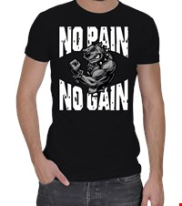 NO PAIN NO GAIN Erkek Spor Kesim bodybuilding,fitness,gym,vucut gelistirme,supplement,trainer,body,bilek guresi,armwrestlink,spor,antrenman,protein, 18021017282337551452014490-