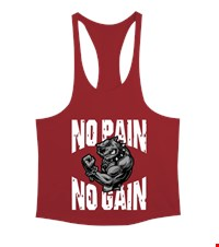 NO PAIN NO GAIN Erkek Tank Top Atlet bodybuilding,fitness,gym,vucut gelistirme,supplement,trainer,body,bilek guresi,armwrestlink,spor,antrenman,protein, 18021017375937551452019798-