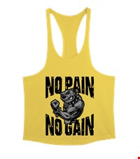 NO PAIN NO GAIN Erkek Tank Top Atlet bodybuilding,fitness,gym,vucut gelistirme,supplement,trainer,body,bilek guresi,armwrestlink,spor,antrenman,protein, 18021017394137551452015401-