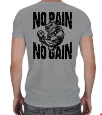NO PAIN NO GAIN V Yaka Spor Kesim bodybuilding,fitness,gym,vucut gelistirme,supplement,trainer,body,bilek guresi,armwrestlink,spor,antrenman,protein, 18021018092637551452011571-