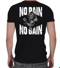 NO PAIN NO GAIN V Yaka Spor Kesim bodybuilding,fitness,gym,vucut gelistirme,supplement,trainer,body,bilek guresi,armwrestlink,spor,antrenman,protein, 18021018134037551452014059-