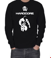 HARD CORE ERKEK SWEATSHIRT bodybuilding,fitness,gym,vucut gelistirme,supplement,trainer,body,bilekguresi,armwrestlink,spor,antrenman,protein,ufc 18031417222737551452014913-